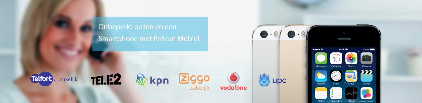 Onbeperkt bellen en een Smartphone met Pelican Mobiel.